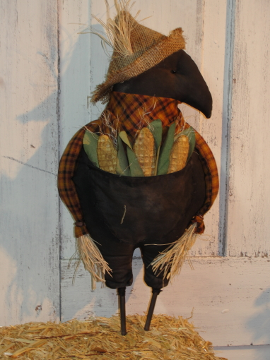 Primitive Crow with Corn Pocket