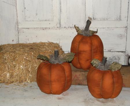 Tonal Fabric Pumpkin Set