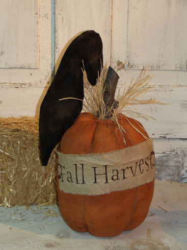Fall Havest Pumpkin and Crow