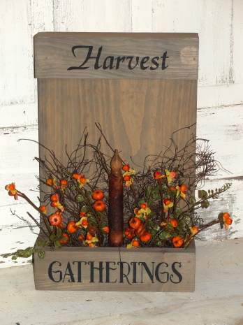Harvest Gatherings Fall Box Light-Table/Wall