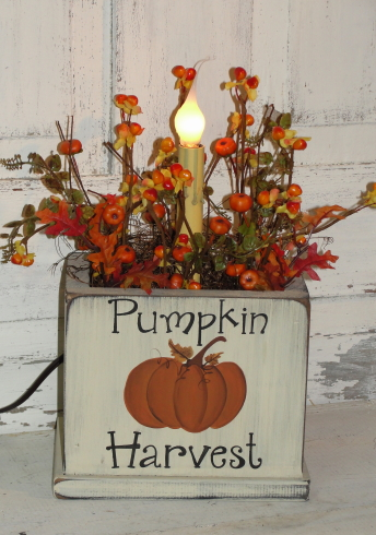 Pumpkin Harvest Fall Light Arrangement-Electric Light