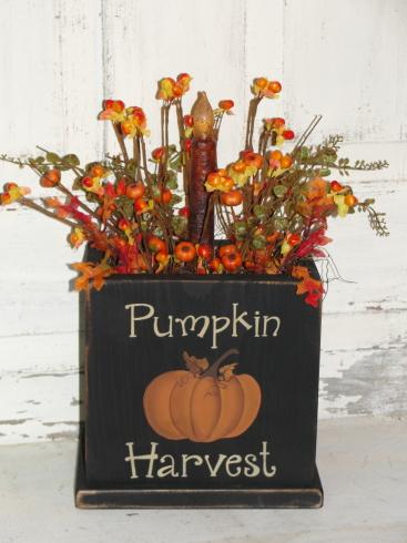 Pumpkin Harvest Fall Light Arrangement-Battery Taper