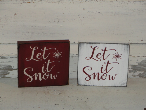Let It Snow Shelf Sitter