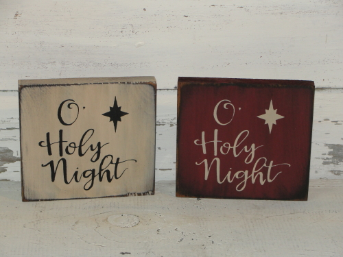 O Holy Night Shelf Sitter