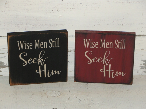 Wise Men Still Seek Him Shelf Sitter