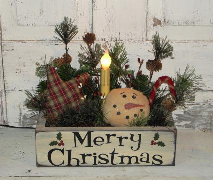 Merry Christmas Box Light Arrangement
