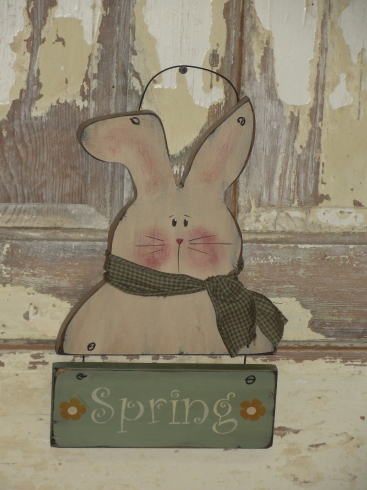 Bunny with Spring Sign