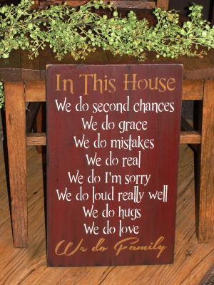 In This House....Sign/Two Tone Lettering