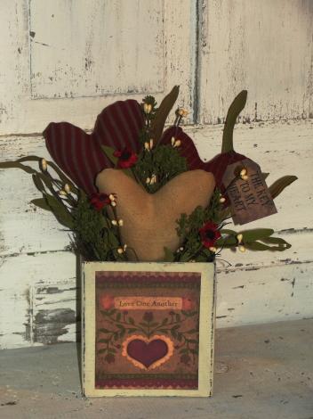 Heart  Box Arrangement-Red Tones