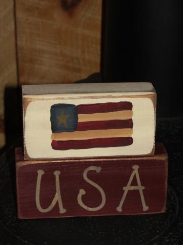 USA Flag Block Set