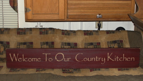 Welcome To Our Country Kitchen