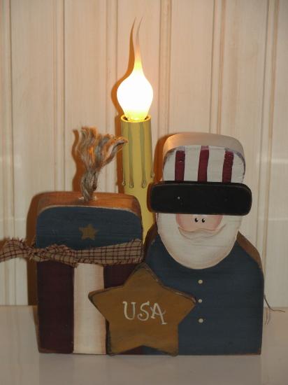 Uncle Sam and Firecracker Light