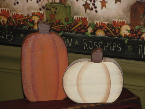 Primitive Fall Pumpkin Shelf Sitters/Two Colors available