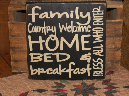 Primitive Family Typography Wood Sign
