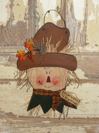 Hanging Primitive Fall Scarecrow Head