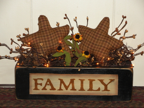 Primitive Family Homespun Star Light Arrangment
