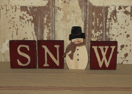 Primitive Snow Blocks with Snowman