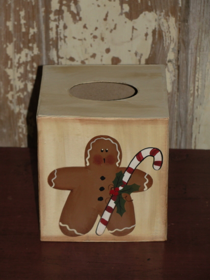 Gingerbread and Candy Cane Tissue Box