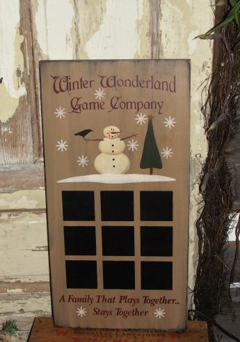Winter Wonderland Game Company Primitive Wood Gameboard