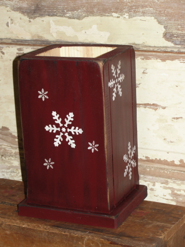 Snowflake Primitive Twig Wood Box