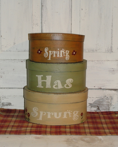 Spring Stacking Boxes / Tissue Boxes