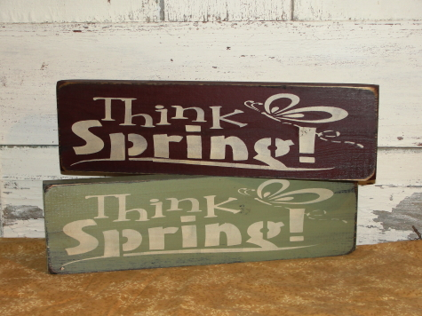 Think Spring Primitive Shelf Sitter