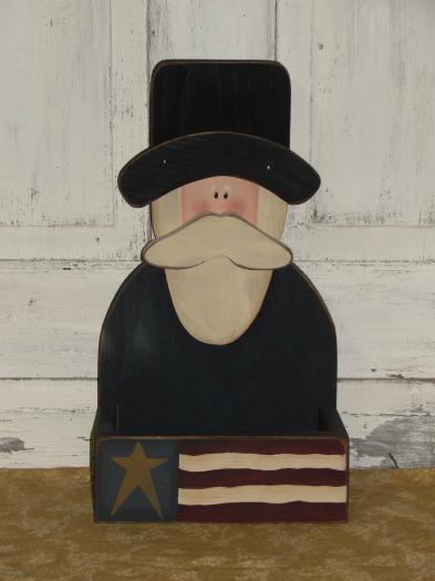 Primitive Americana Uncle Sam Flag Box