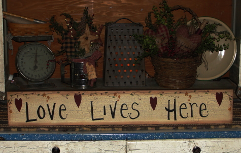 Crackled Primitive Wood Signs