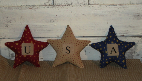 USA Americana Homespun Star Set