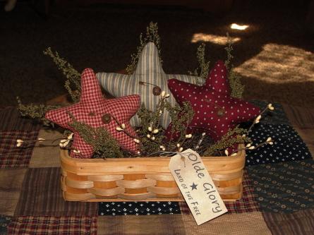Olde Glory Basket Arrangement with Stars