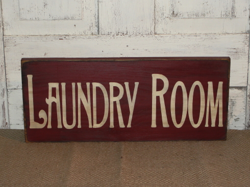 COUNTRY BATH / LAUNDRY Primitive Wood Signs