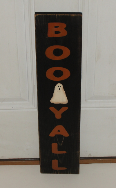 Boo Y'all Primitive Wood Sign