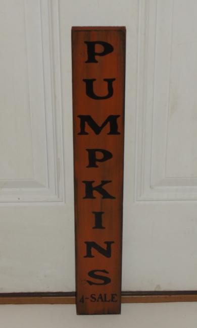 Primitive Pumpkins For Sale Vertical Wood Sign