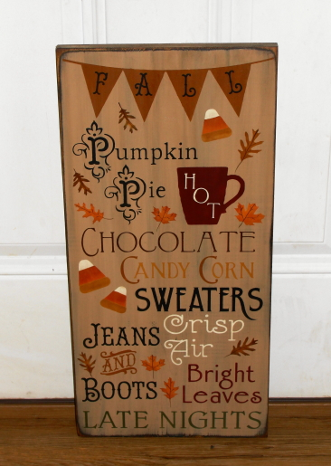 Primitive Fall Signs / Halloween & Thanksgiving Wood Signs