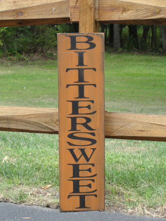 Bittersweet Primitive Wood Sign