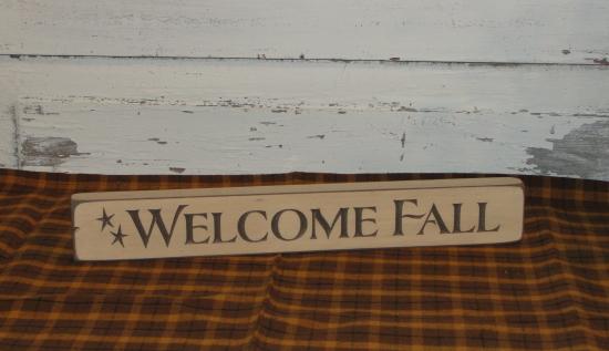 Welcome Fall Shelf Sitter