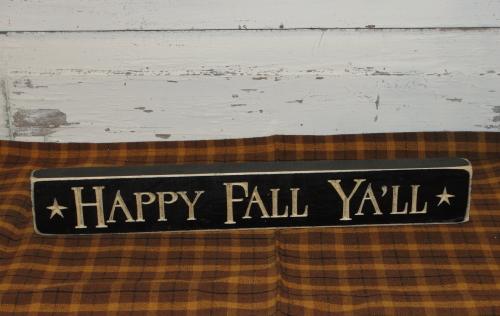 Happy Fall Y'all Shelf Sitter