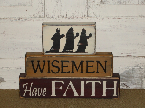 Wisemen Primitive Wood Stacking Blocks