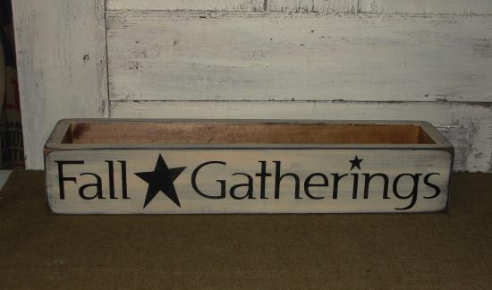 Fall Gatherings Primitive Wood Box