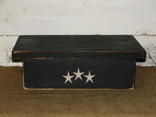 Stenciled Primitive Wood Table Riser
