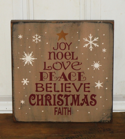 Christmas and Winter Primitive Wood Signs/ Typography Signs