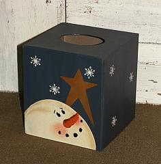 Snowman and Star Tissue Box/Colors optional