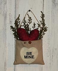 Be Mine Valentine Peg Hanger Pouch