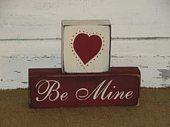 Be Mine Primitive Wood Stacking Blocks