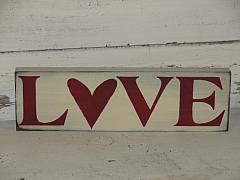 LOVE Primitive Wood Sign / Shelf Sitter
