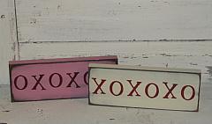 XOXOXO Primitive Wood Sign / Shelf Sitter