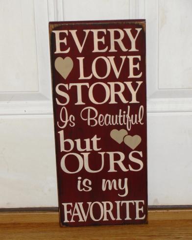 Romance Love Wedding Valentine Primitive Wood Signs