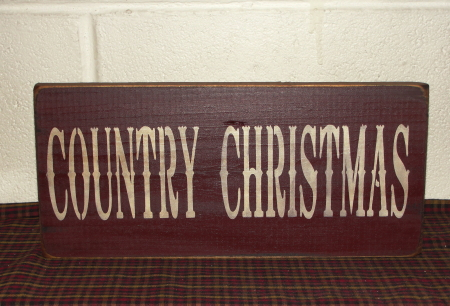 Country Christmas Primitive Wood Sign