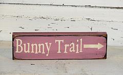 Bunny Trail Primitive Wood Shelf sitter/Peg hanger
