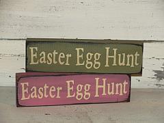 Easter Egg Hunt Primitive Wood Shelf sitter/Peg hanger